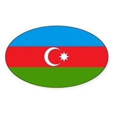 Azerbaijan Oval Decal