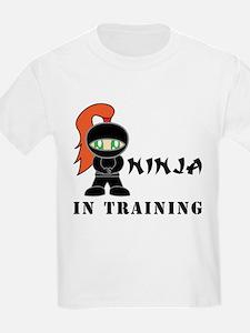 Redhead Ninja In Training T-Shirt