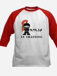 Redhead Ninja In Training Kids Baseball Jersey