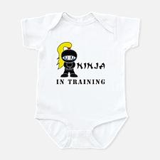 Blonde Ninja In Training Infant Bodysuit