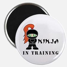 Redhead Ninja In Training Magnet