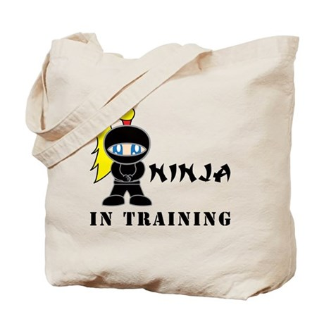 Blonde Ninja In Training Tote Bag