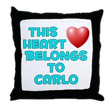 This Heart: Carlo (E) Throw Pillow