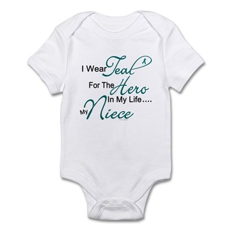 Teal For My Hero 1 (Niece OC) Infant Bodysuit