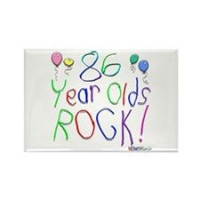 86 Year Olds Rock ! Rectangle Magnet