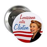 Louisiana Votes Clinton (10 button pack)