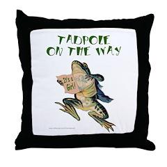 TADPOLE ON THE WAY Throw Pillow