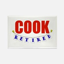 Retired Cook Rectangle Magnet