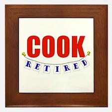Retired Cook Framed Tile