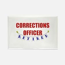 Retired Corrections Officer Rectangle Magnet
