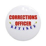 Correction officer Round Ornaments