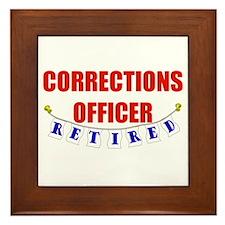 Retired Corrections Officer Framed Tile