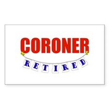 Retired Coroner Rectangle Decal