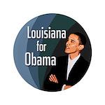 Louisiana for Obama Large Button