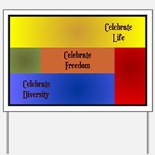 Celebrate Diversity Yard Sign