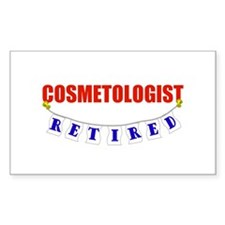 Retired Cosmetologist Rectangle Decal