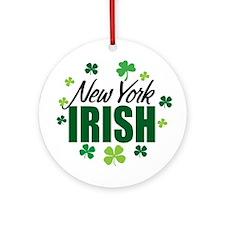 New York Irish Ornament (Round)