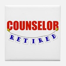 Retired Counselor Tile Coaster