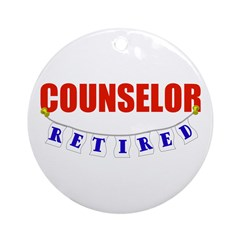 Retired Counselor Ornament (Round)