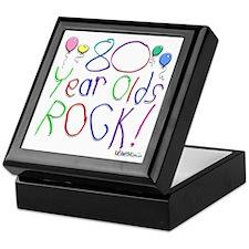 80 Year Olds Rock ! Keepsake Box