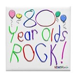 80th birthday Drink Coasters
