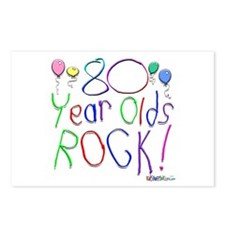 80 Year Olds Rock ! Postcards (Package of 8)