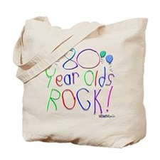 80 Year Olds Rock ! Tote Bag