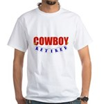 Retired Cowboy White T-Shirt