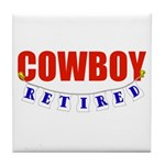 Retired Cowboy Tile Coaster
