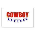 Retired Cowboy Rectangle Sticker