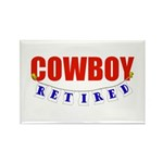 Retired Cowboy Rectangle Magnet (10 pack)