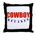 Retired Cowboy Throw Pillow