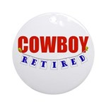 Retired Cowboy Ornament (Round)