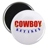 Retired Cowboy Magnet