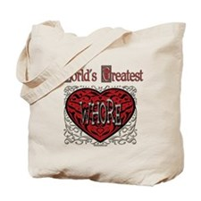 World's Best Whore Tote Bag