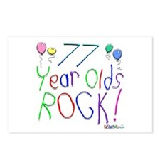 77 Year Olds Rock ! Postcards (Package of 8)