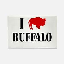 "I ""Buffalo"" Buffalo Rectangle Magnet"