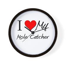 I Heart My Mole Catcher Wall Clock