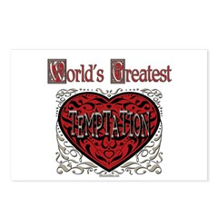 World's Best Temptation Postcards (Package of 8)