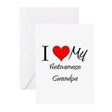 I Love My Vietnamese Grandpa Greeting Cards (Pk of