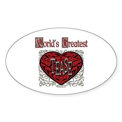 World's Best Tease Oval Decal