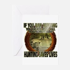 hunting rights Greeting Cards (Pk of 10)