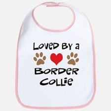Loved By A Border Collie Bib