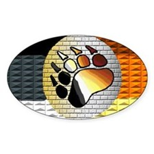 FULL OF BEAR PRIDE Oval Decal