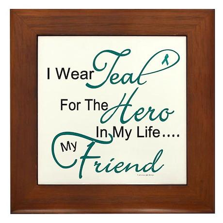 Teal For My Hero 1 (Friend OC) Framed Tile