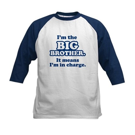 Big Brother in Charge Kids Baseball Jersey