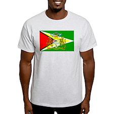 Guyana Flag Ash Grey T-Shirt