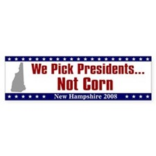 New Hampshire Primary Bumper Bumper Sticker