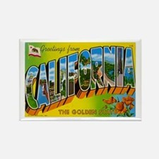 Greetings from California I Rectangle Magnet