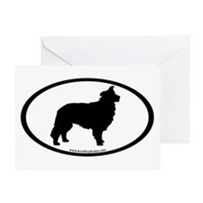 Border Collie Oval Greeting Card